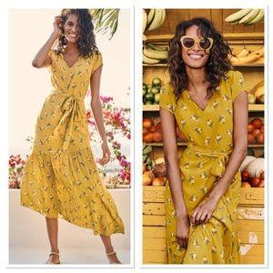 NWT Boden Amy Asymmetrical Midi Dress Sz 14
